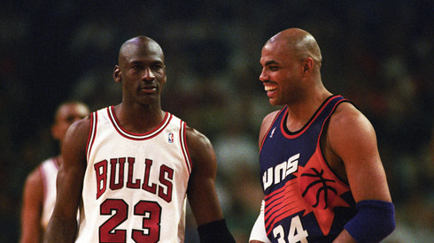 Jordan would soon wipe that smile off Barkley's face.